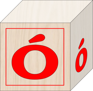Blocks Polish Alphabet O Image
